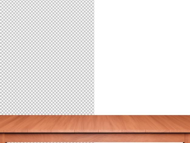 3d Renderowania Tło Blat Drewna Na Białym Tle Premium Psd
