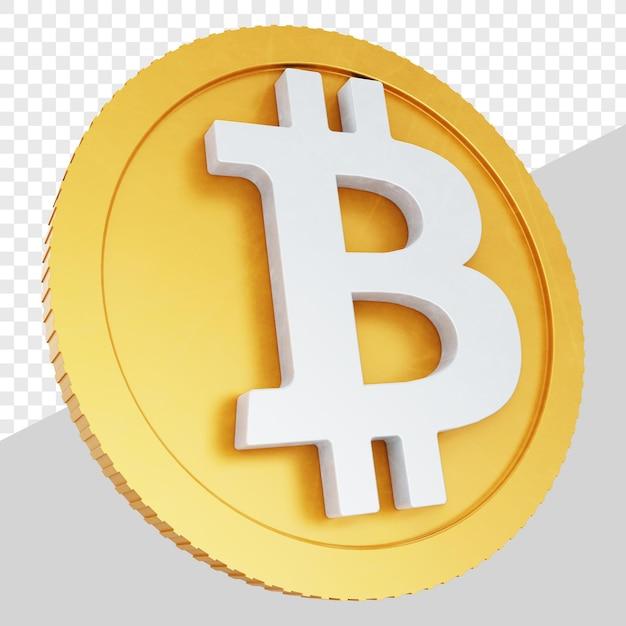 3d Złote Monety Bitcoin Na Białym Tle Premium Psd