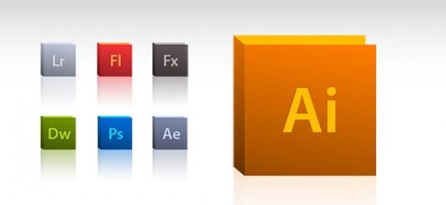 Adobe Zestaw Ikon Darmowe Psd