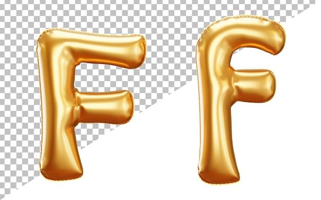 Alfabet Litery F Z Balonu Foliowego W Renderowaniu 3d Z Dużymi I Małymi Literami Premium Psd