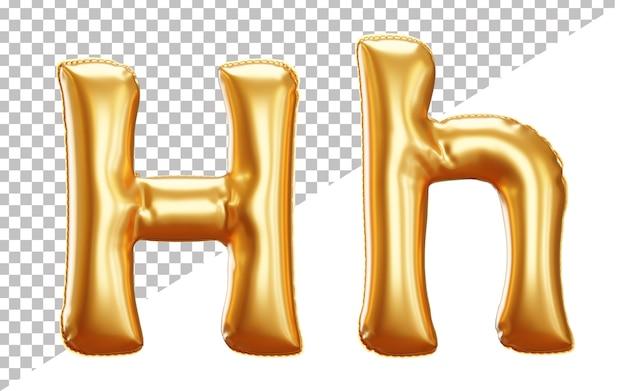 Alfabet Litery H Balonu Foliowego W Renderowaniu 3d Z Dużymi I Małymi Literami Premium Psd