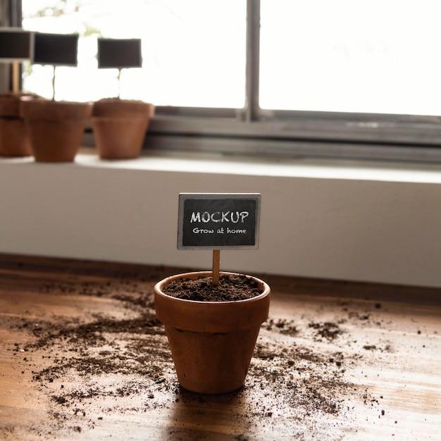 Aranżacja Ogrodnictwa Domowego Z Makietą Ramy Roślinnej Darmowe Psd