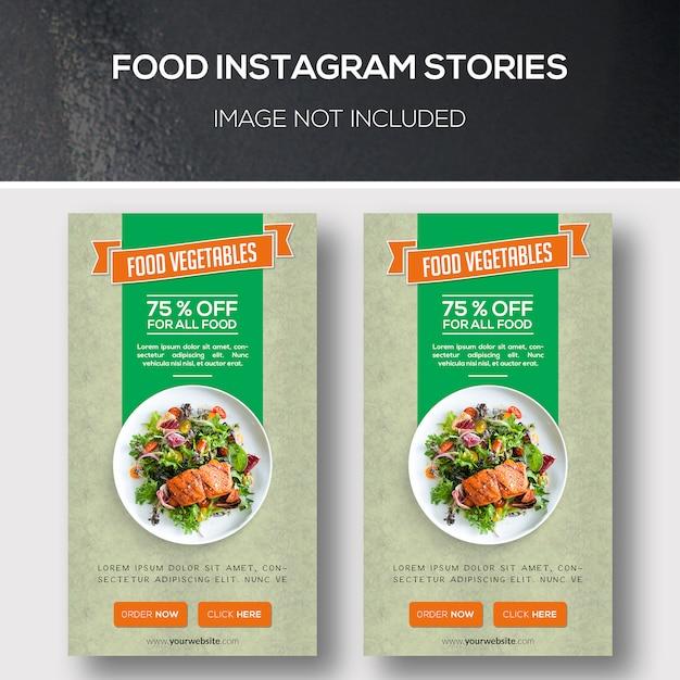 Artykuły o instagramie żywności Premium Psd