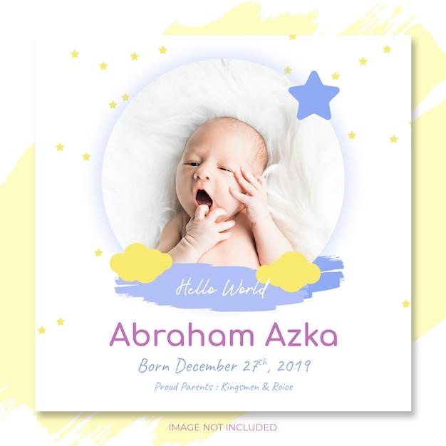 Baby Ogłoszenie Zaproszenie Na Szablon Strony Baby Shower Premium Psd