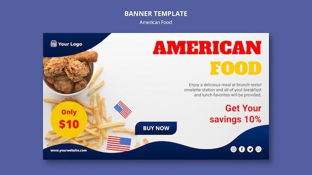 Baner Dla Amerykańskiej Restauracji Darmowe Psd
