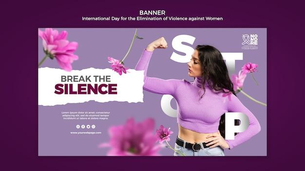 Baner Eliminacji Przemocy Wobec Kobiet Premium Psd