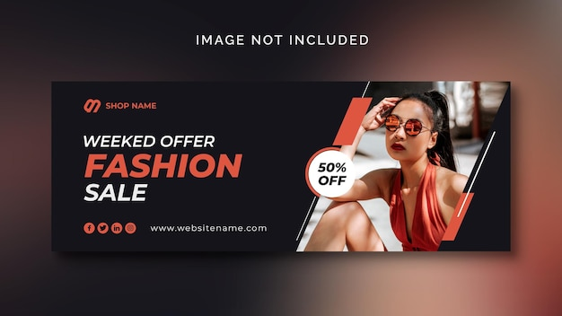 Baner Społecznościowy Sprzedaży Mody Lub Szablon Mediów Społecznościowych Darmowe Psd