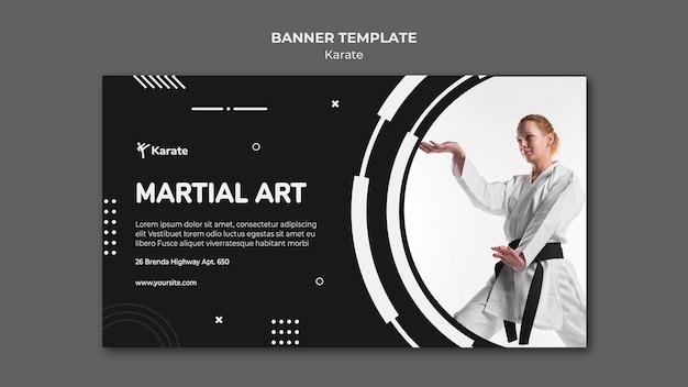 Baner Szablonu Klasy Karate Darmowe Psd