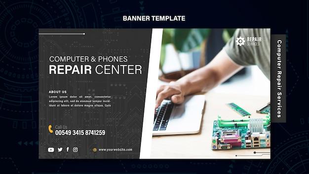Baner Usług Naprawy Komputerów I Telefonów Darmowe Psd