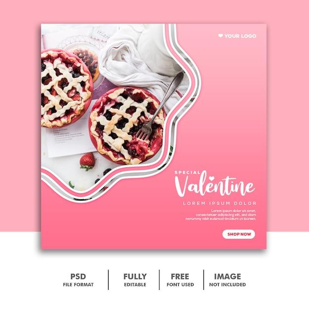 Banner Valentine żywności Premium Psd