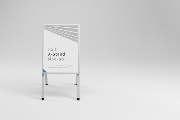 Biała Reklama Makieta Stojaka Premium Psd