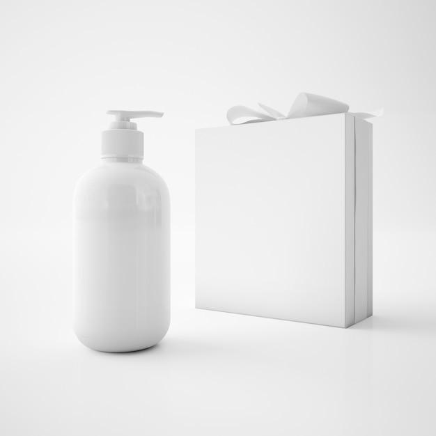 Białe Pudełko Ze Wstążką I Pojemnikiem Na Mydło Darmowe Psd