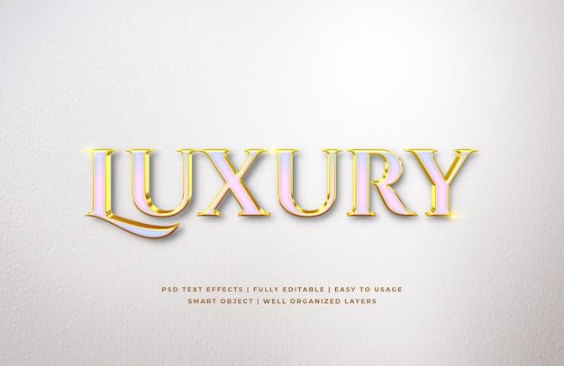 Białe Złoto Luksusowy Efekt Stylu Tekstu 3d Premium Psd