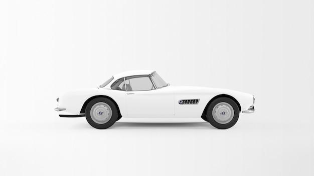 Biały Samochód Na Białym Tle Darmowe Psd