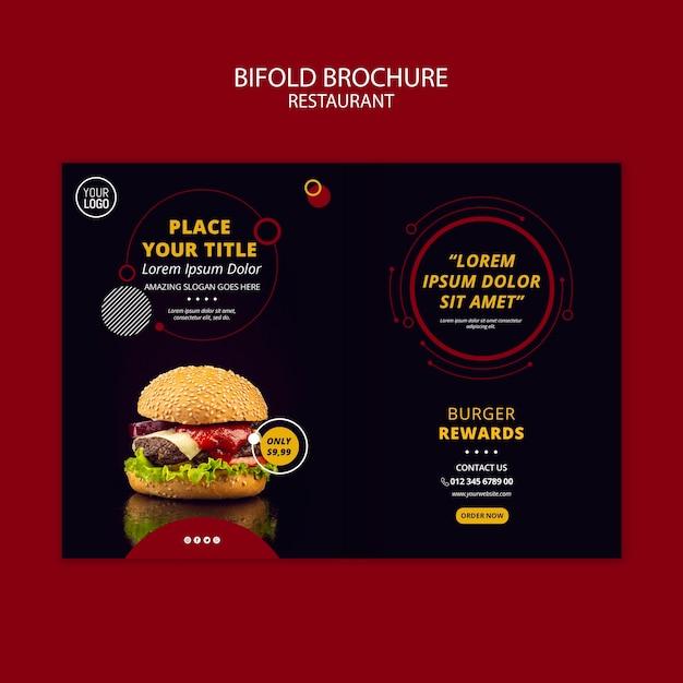 Bifold Projekt Broszury Dla Restauracji Darmowe Psd