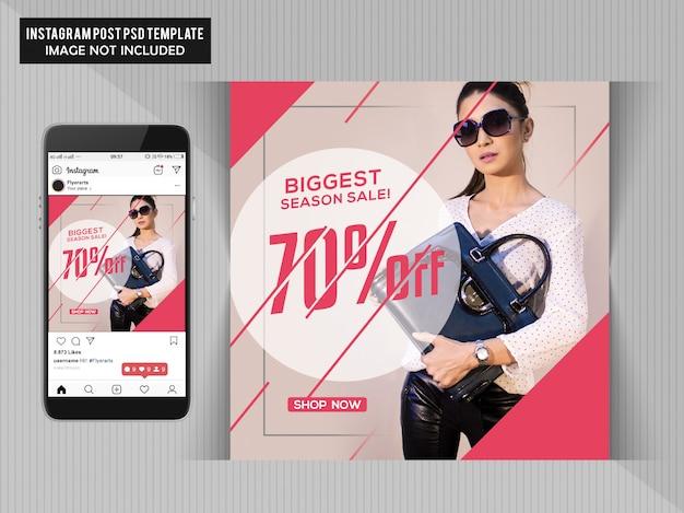 Big Fashion Sale Flyer Template Premium Psd