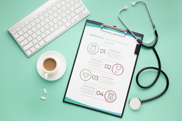 Biurko Medyczne Ze Schowkiem I Stetoskopem Darmowe Psd