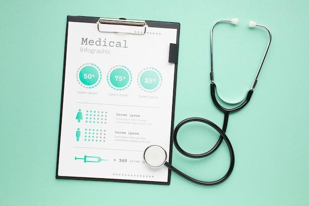 Biurko Medyczne Ze Stetoskopem I Schowkiem Darmowe Psd