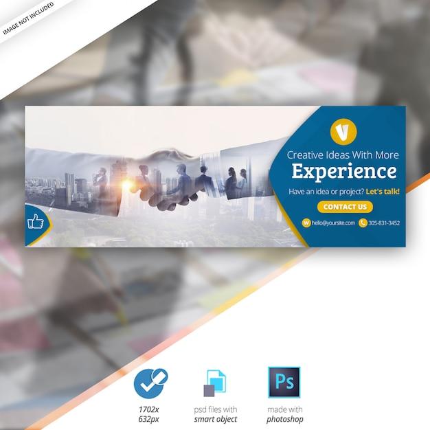 Biznes marketing facebook oś czasu cover banner Premium Psd