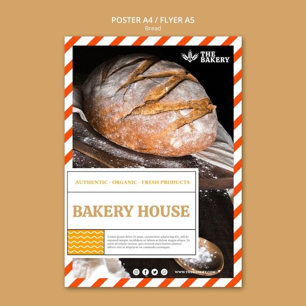 Biznes Projekt Plakatu Chleba Darmowe Psd