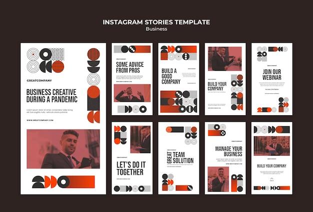 Biznesowe Historie Z Instagramów Darmowe Psd