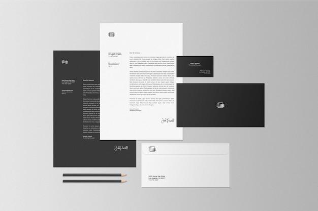 Biznesowy Stacjonarny Ustalony Makieta Sceny Premium Psd