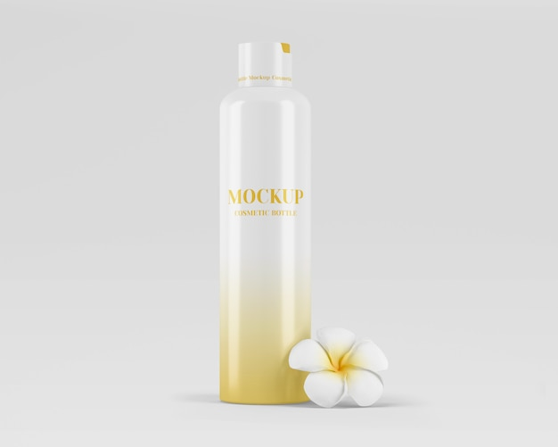 Błyszcząca Makieta Butelki Kosmetycznej Premium Psd