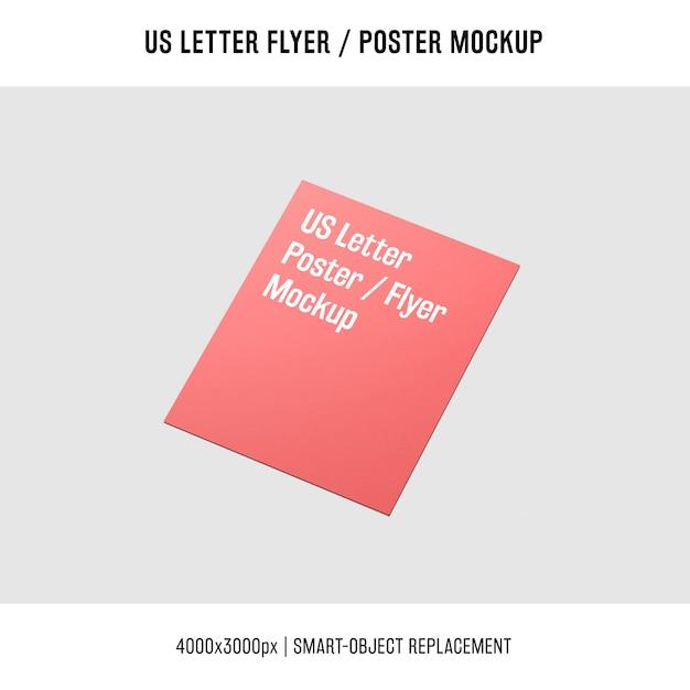 Błyszczące nam listu ulotki lub makieta plakatu Darmowe Psd