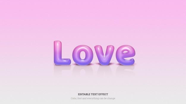Błyszczący Efekt Tekstowy Miłości Premium Psd