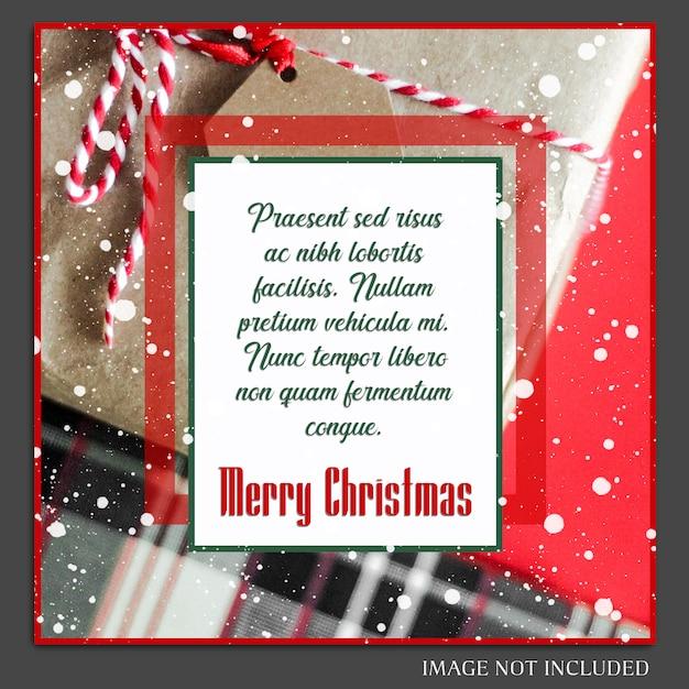 Boże narodzenie i szczęśliwego nowego roku 2019 makieta zdjęcie i szablon postu instagram Premium Psd