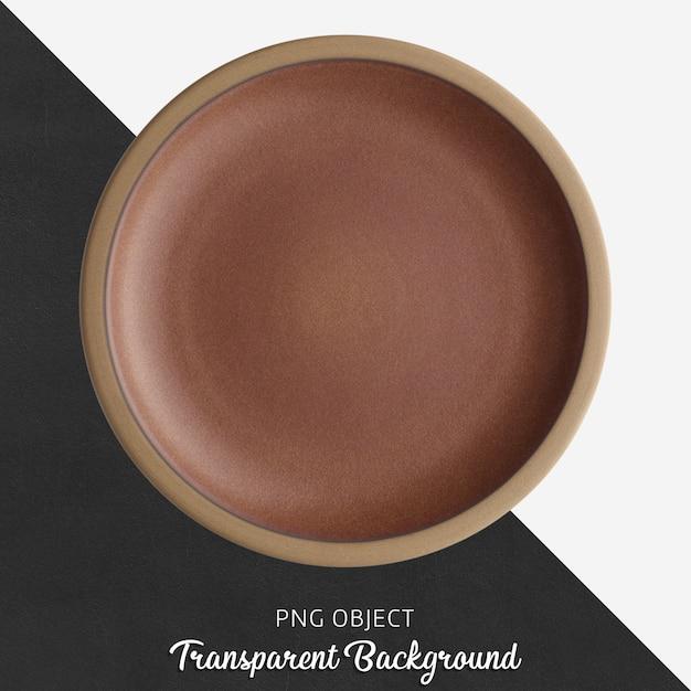 Brązowy Okrągły Talerz Ceramiczny Na Przezroczystym Tle Premium Psd