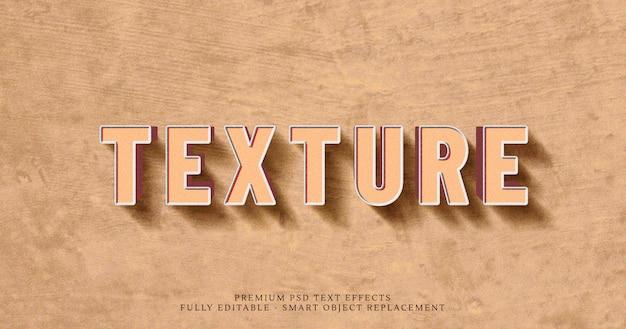 Brązowy Tekstury 3d Tekst Styl Efekt Psd Premium Psd