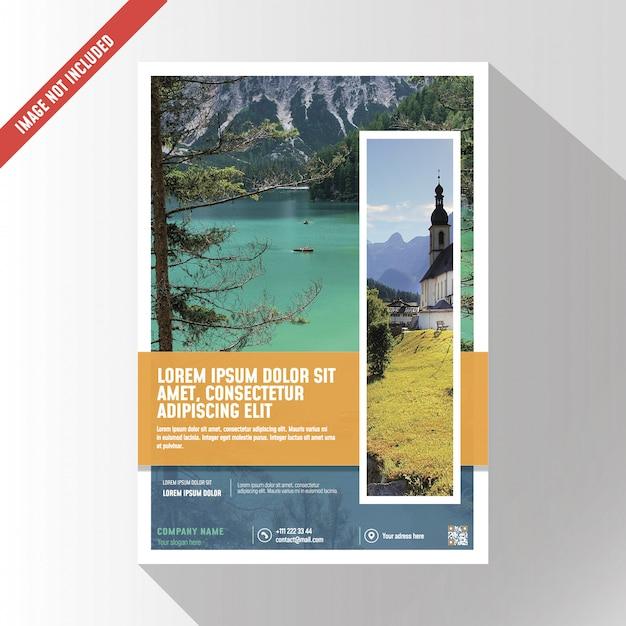 Broszura kreatywnych biznesowych makieta Premium Psd