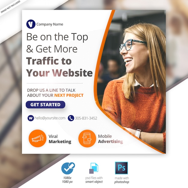 Business marketing web social media banner Premium Psd