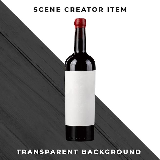 Butelka Wina Na Przezroczystym Tle Premium Psd