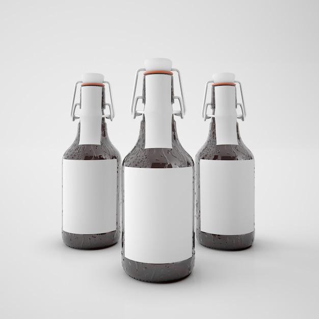 Butelki Z Pustą Etykietą Darmowe Psd