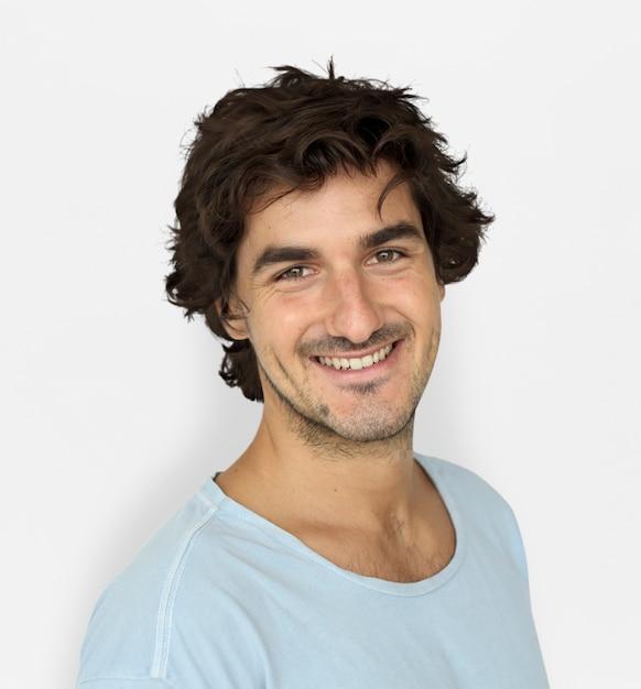 Caucasion Man Casual Confident Atrakcyjna Concept Premium Psd