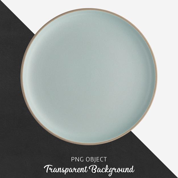 Ceramiczny Niebieski Okrągły Talerz Na Przezroczystym Tle Premium Psd