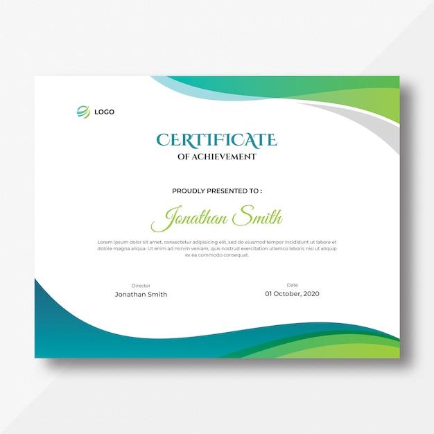 Certyfikat Kolorowe Fale Premium Psd
