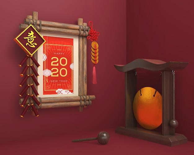 Chińskie Ozdoby I Rama Na Nowy Rok Darmowe Psd