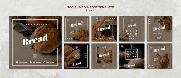 Chlebowy Post W Mediach Społecznościowych Darmowe Psd