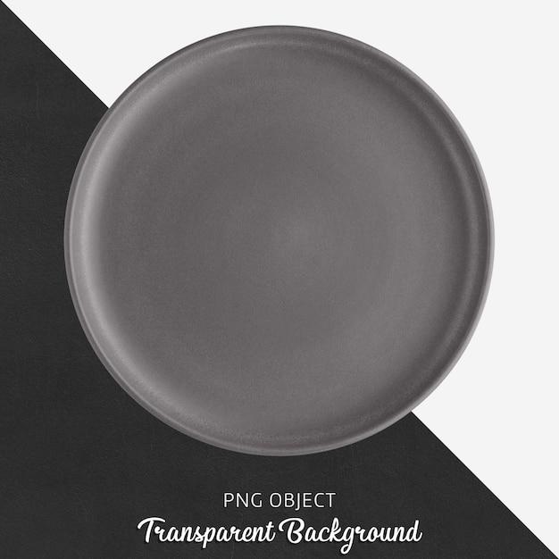 Ciemnoszary Okrągły Talerz Ceramiczny Na Przezroczystym Tle Premium Psd