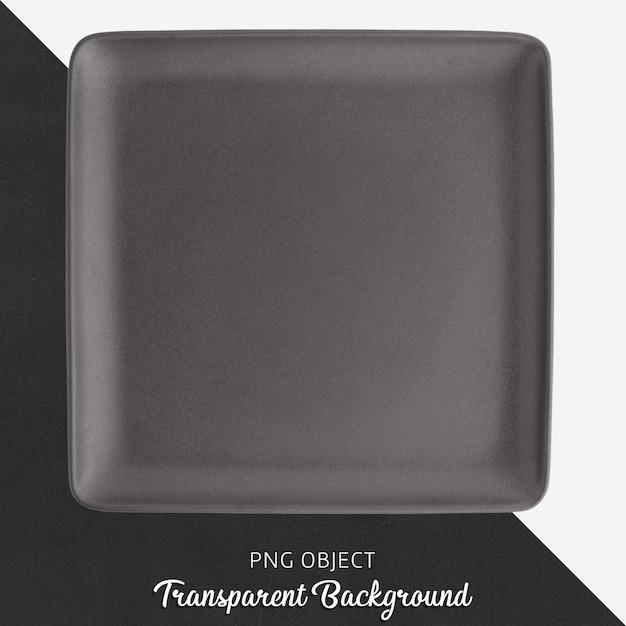 Ciemnoszary Prostokąt Ceramiczny Talerz Na Przezroczystym Tle Premium Psd