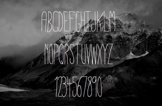 Cienkie typografia Darmowe Psd