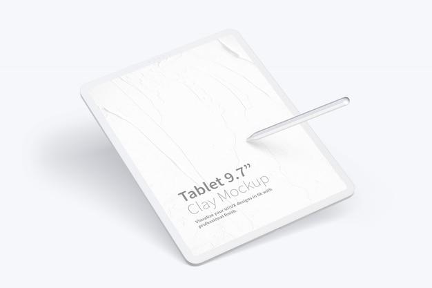 "Clay Tablet Pro 12,9 ""makieta Premium Psd"