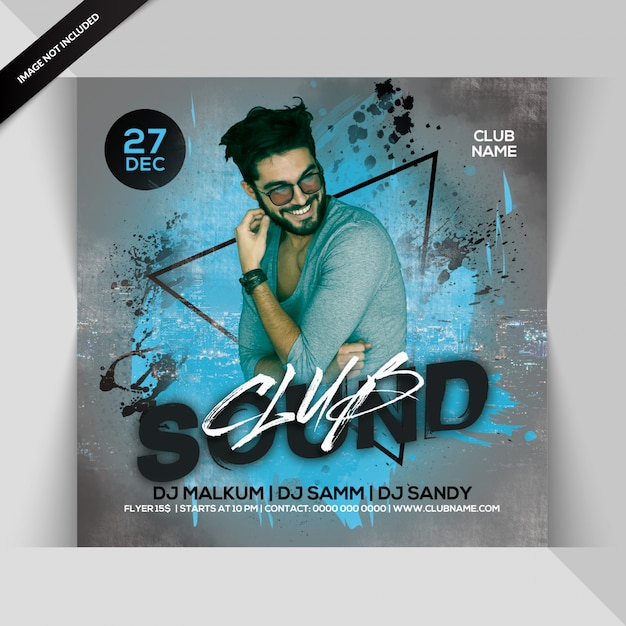Club Sounds Party Flyer Premium Psd