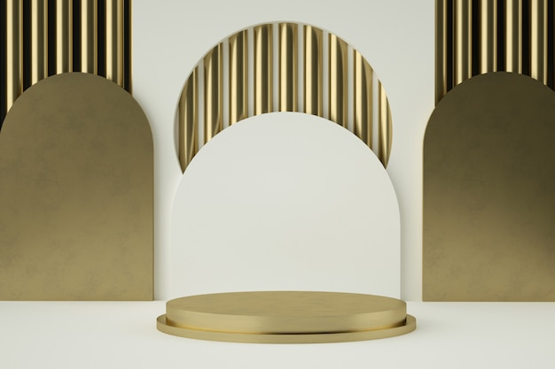 Cokół Z Czystego Białego Złota Premium Psd