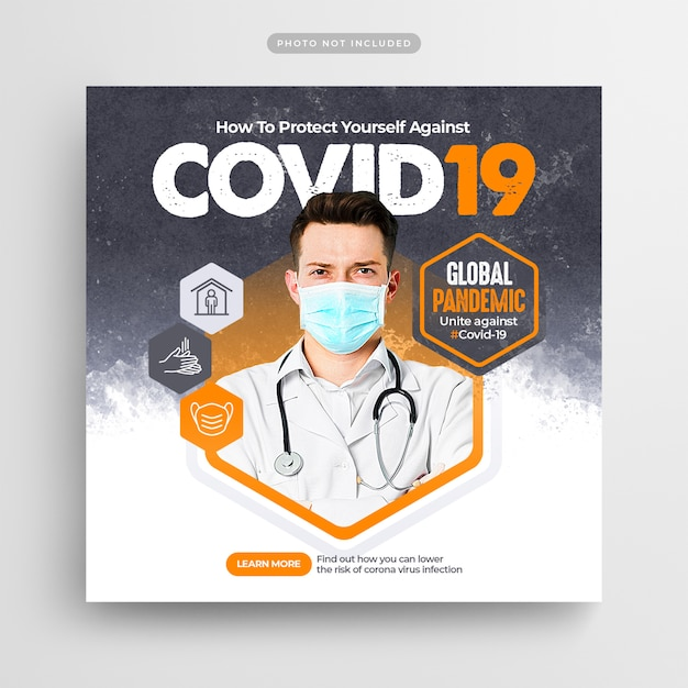 Corona Virus Prevention Social Media Post & Web Banner Premium Psd