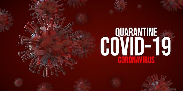 Covid-19 Koronawirus 3d Odpłaca Się Ilustrację Premium Psd