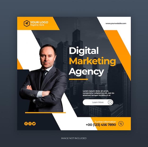 Cyfrowy Kreatywny Biznes Marketing Szablon Mediów Społecznych Instagram Banner Szablon Premium Psd